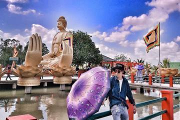 Vãn cảnh chùa Phật Học 2 - công trình kiến trúc tôn giáo bề thế bậc nhất Sóc Trăng