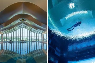Khám phá hồ bơi sâu nhất thế giới mới khai trương tại Dubai