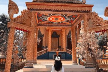 Check in chùa Cọc An Giang chiêm ngưỡng kiến trúc chùa vàng Khmer Nam Bộ tuyệt đẹp