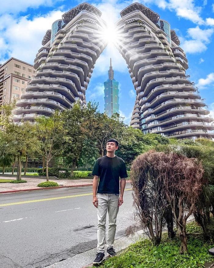 hài hòa với tòa tháp 101 - điểm thú vị của tòa nhà xoắn ốc Đài Loan