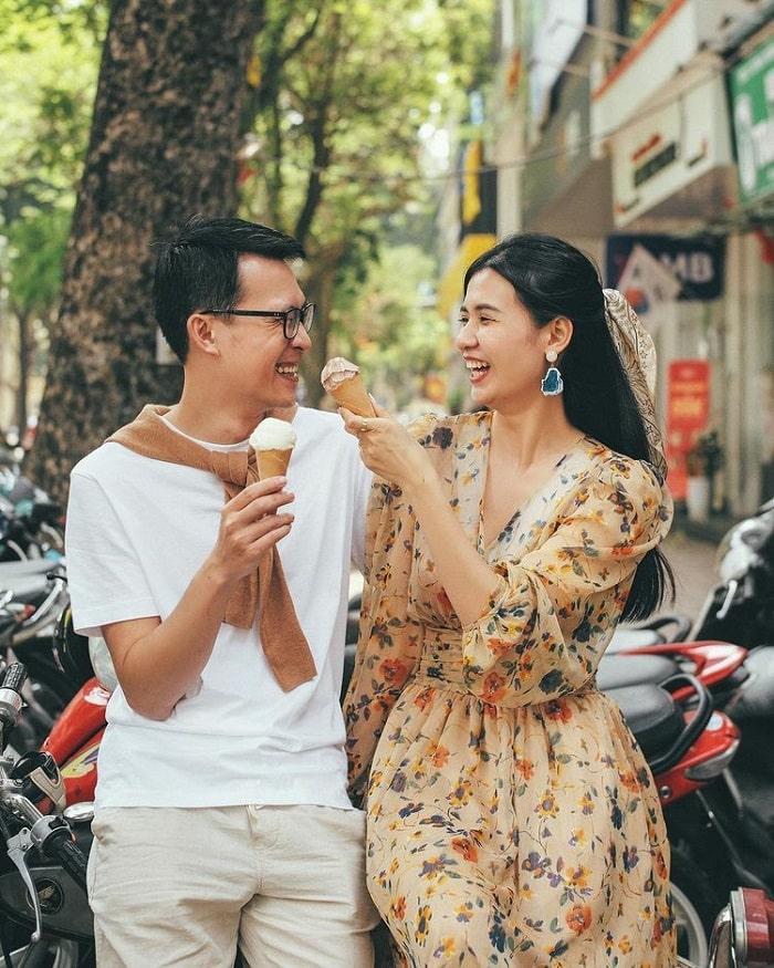 Trải nghiệm ăn kem Tràng Tiền Hà Nội