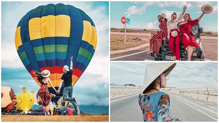 Đi khinh khí cầu - Trải nghiệm ở Phan Thiết