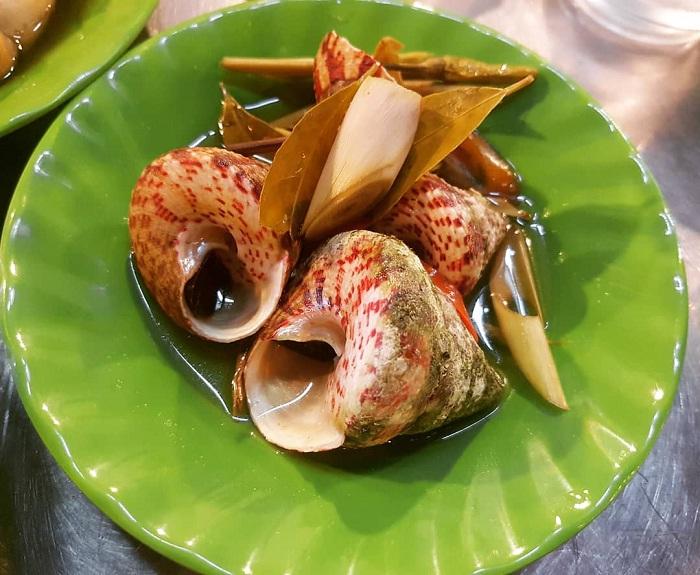 Ốc vú nàng – món ăn tạo nên sự độc đáo cho ẩm thực Côn Đảo