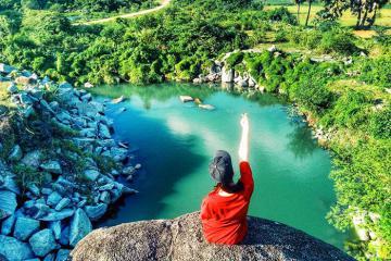 Lập team khám phá vẻ đẹp của hồ Soài So An Giang