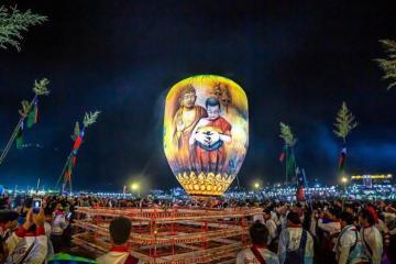 Ngắm nhìn vẻ đẹp độc đáo tại lễ hội khinh khí cầu lớn nhất Myanmar