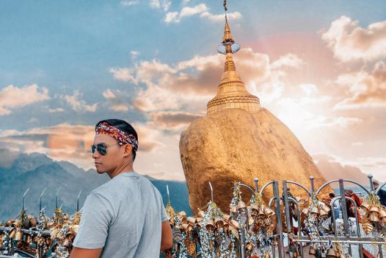 Tới Kyaikhtiyo ghé thăm Hòn Đá Vàng linh thiêng của Myanmar