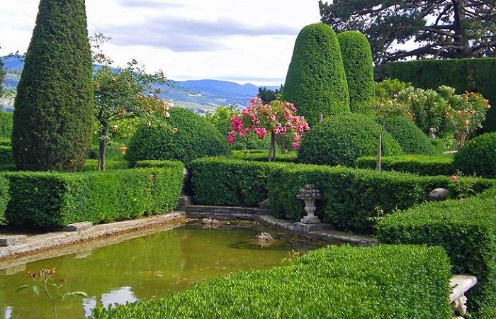 Villa Medici gần Florence - những khu vườn đẹp nhất ở Ý
