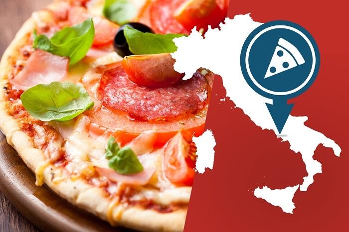 Vị trí của Naples, Ý nơi ra đời của bánh pizza - Tìm hiểu về bánh Pizza Ý