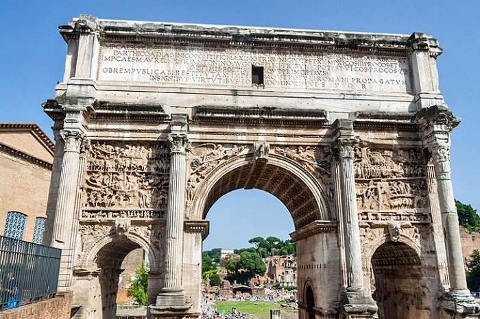 Vòm Septimius Severus - Quảng trường La Mã