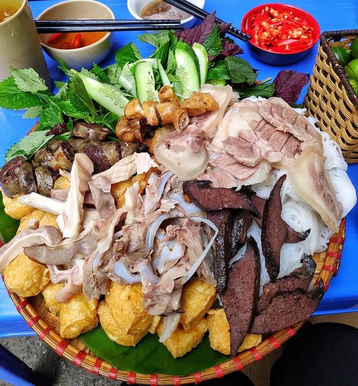 Bún đậu chợ Núi Đèo - chợ ẩm thực Hải Phòng
