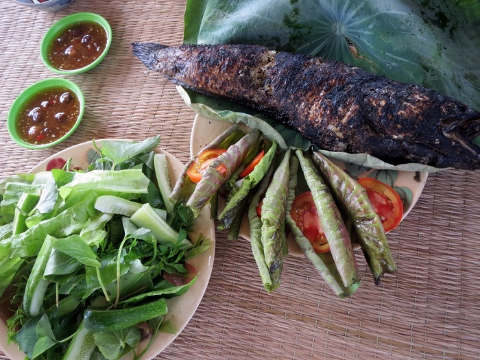 Grilled snakehead fish in U Minh Thuong National Park