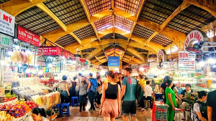chợ Bến Thành - kiến trúc gian hàng