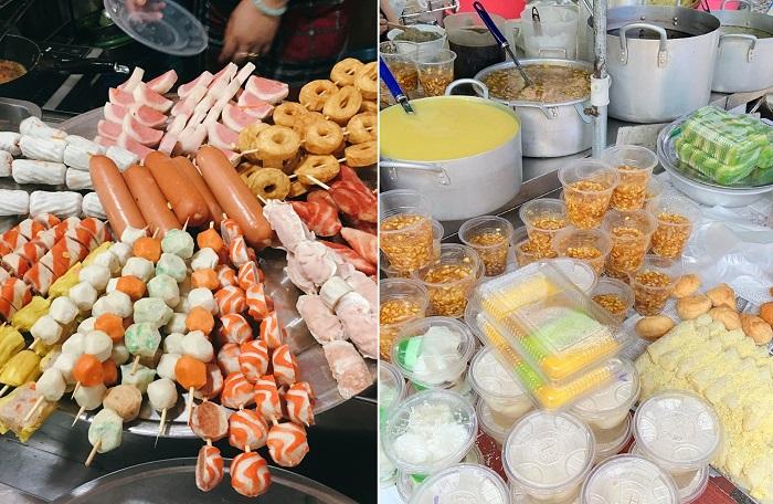 Xiên que và các loại chè - chợ ẩm thực Hải Phòng
