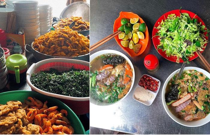 Bánh đa cua đỏ là món ăn nổi tiếng trong chợ - chợ ẩm thực Hải Phòng