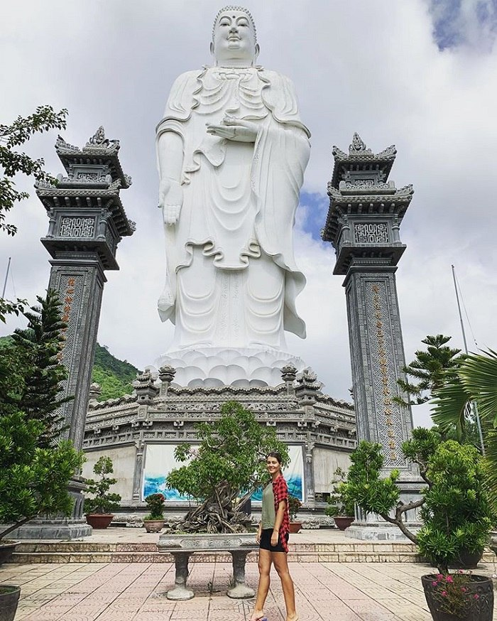 Famous Buddha statues at the temples in Khanh Hoa