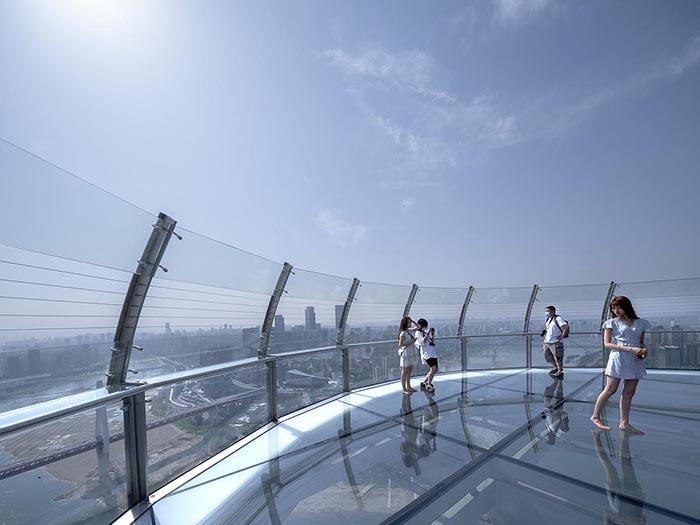 tòa nhà nằm ngang cao nhất thế giới ở Trùng Khánh - Đài quan sát đáy kính cao nhất