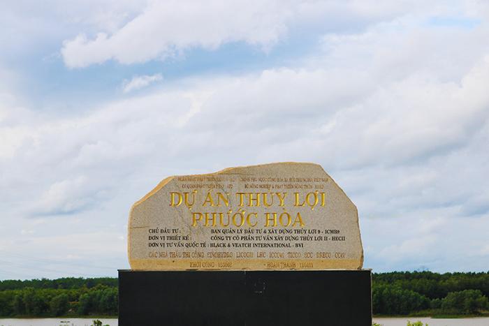 Check in đập Phước Hòa - thuộc Bộ Nông nghiệp và Phát triển nông thôn quản lý