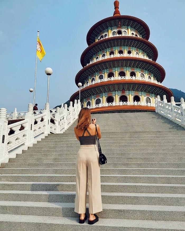 kiến trúc bậc thang - kiến trúc ấn tượng của đền Wuji Tianyuan