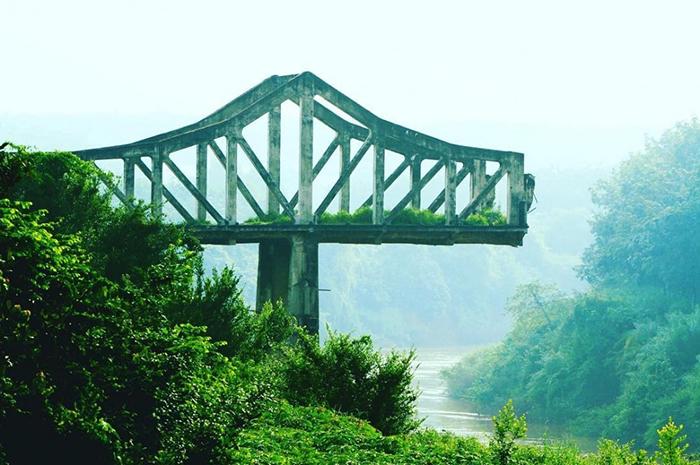 Check in đập Phước Hòa - check in cầu gãy