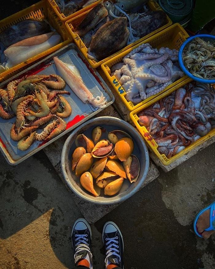 hải sản - đặc sản của Đầm Nại Ninh Thuận