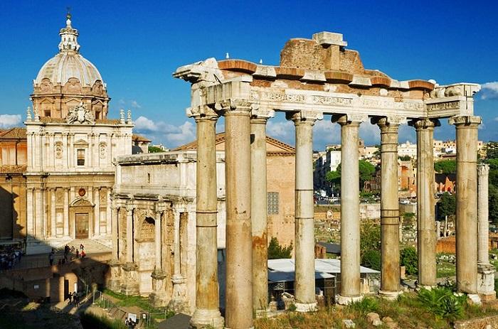 Đền thờ thần Saturn - Quảng trường La Mã
