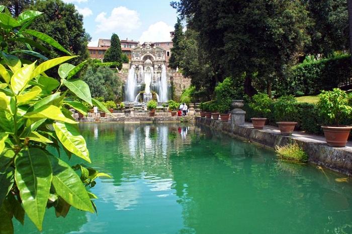 Villa d'Este Gardens tại Tivoli - những khu vườn đẹp nhất ở Ý