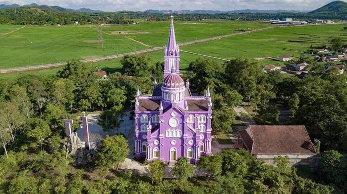 nhà thờ màu tím ở Nghệ An - địa chỉ