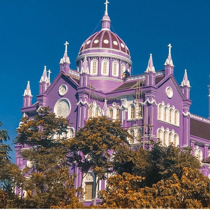 Purple church in Nghe An - design