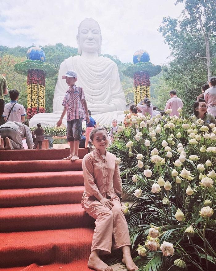 Big Buddha statue at Phat Quang pagoda - Dinh mountain in Vung Tau