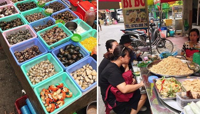 Quán ăn trong chợ Lương Văn Can - chợ ẩm thực Hải Phòng