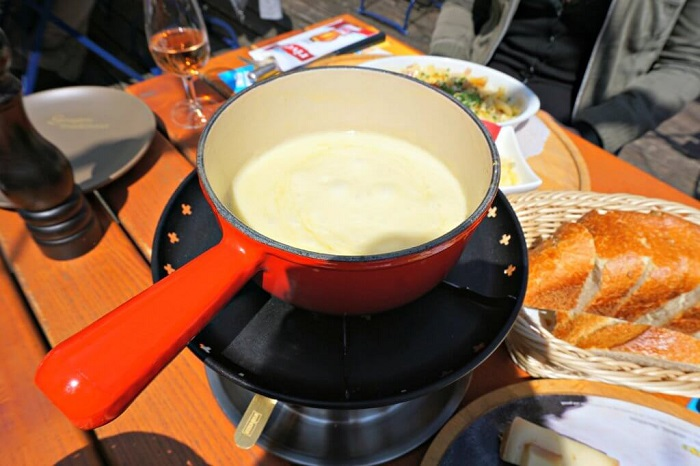 Enjoy a cheese fondue in the town of Gruyeres - the town of Gruyeres