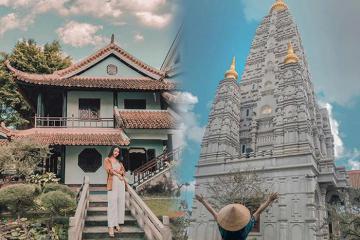 Viếng chùa Huyền Không 1 xứ Huế khám phá nét kiến trúc giao thoa Nhật - Ấn