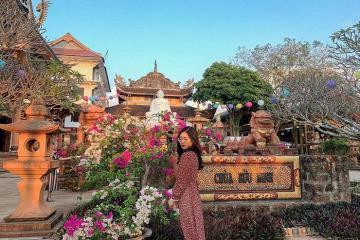Tới chùa Bửu Minh Gia Lai lánh mình nơi bình yên giữa đồi chè bát ngát