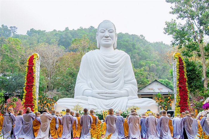 Buddha statue of Sakyamuni at the Buddhist temple of Quang Ba Ria - Vung Tau