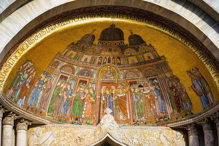 Một tác phẩm nghệ thuật bên trong Nhà thờ Hồi giáo Thánh Peter - Vương cung thánh đường San Marco