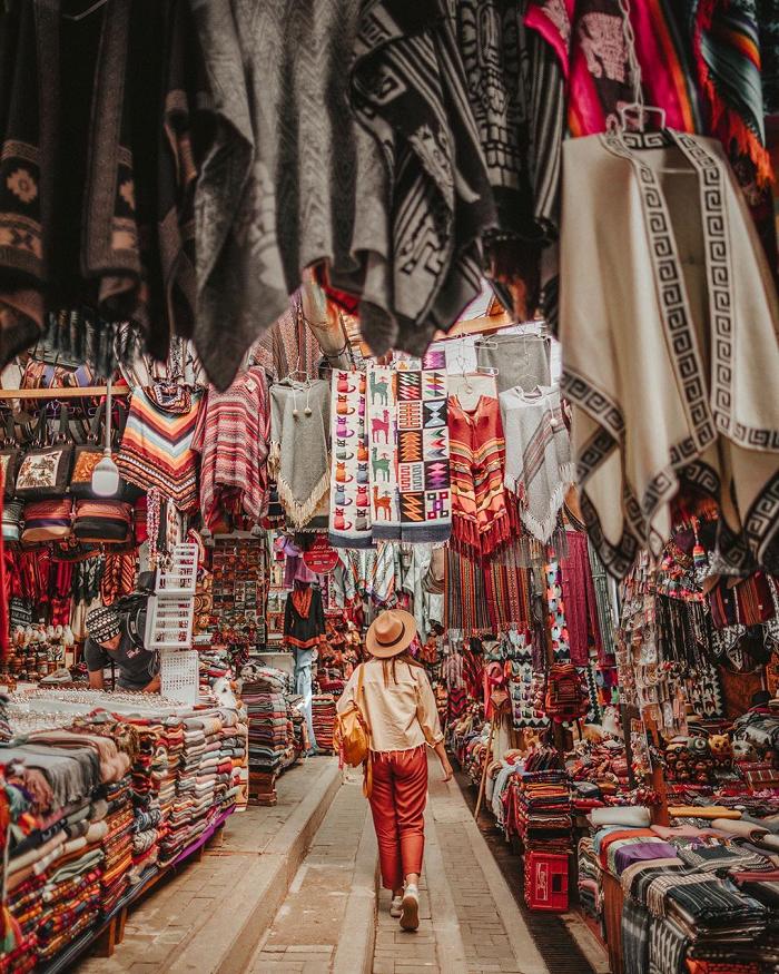 Đi chợ mua đồ thủ công ở Andean - Thung lũng thiêng Peru