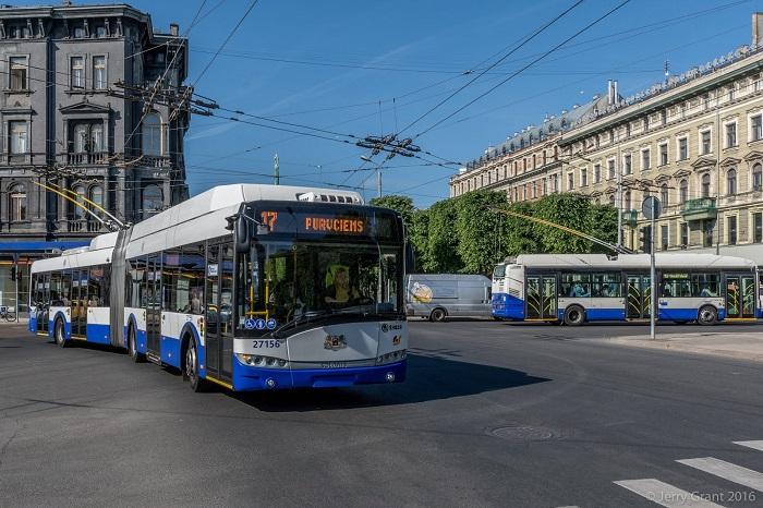 Xe điện ở thủ đô Riga