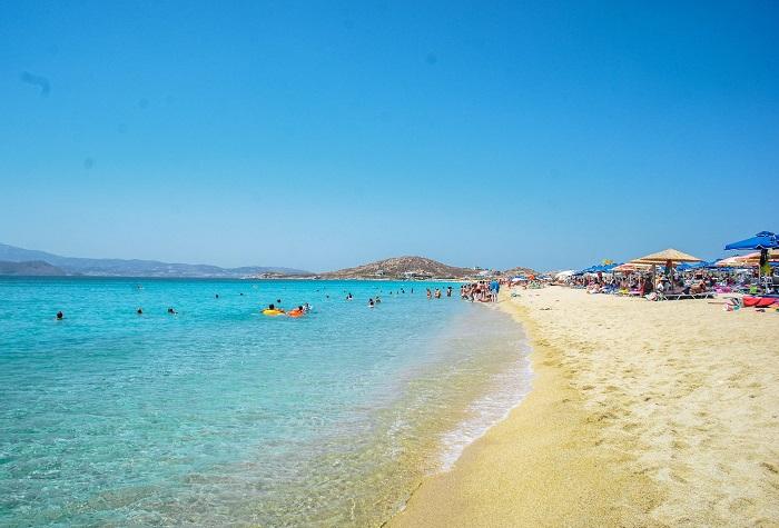 Bãi biển Agios Prokopios -  Du lịch đảo Naxos Hy Lạp