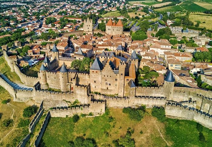 Thị trấn Carcassonne - Thị trấn thời trung cổ ở Châu Âu