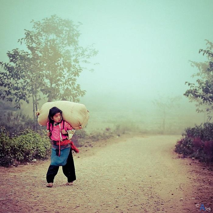 đường đến bản Hồng Ngài Sơn La