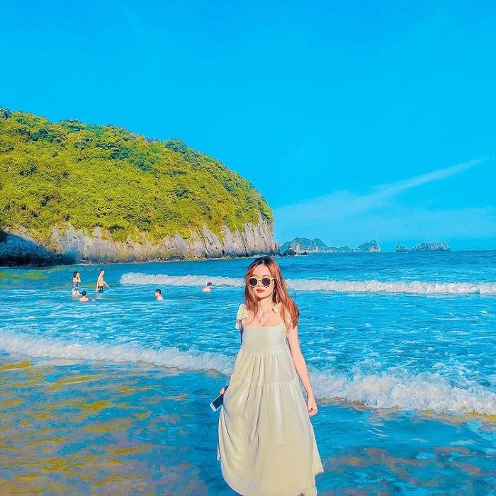 bãi tắm Cát Cò - bãi biển đẹp ở miền Bắc đã lên hình là 'ngàn like'