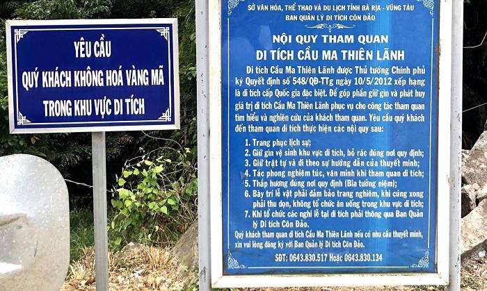 Ma Thien Lanh Con Dao bridge - rules