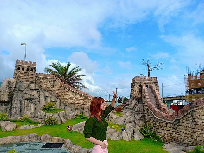 The Great Wall of China in Danang Wonders of the World Park