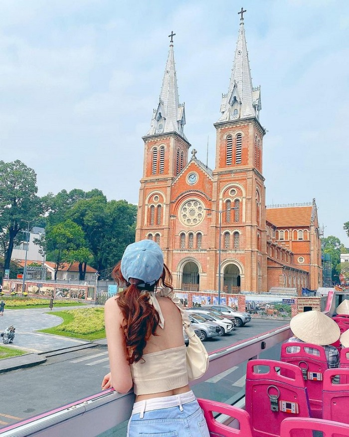 Famous architectural works in Saigon - Notre Dame Cathedral