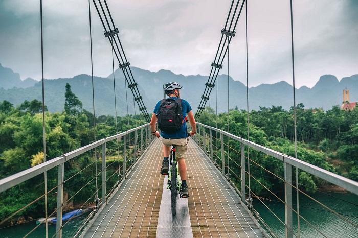 Đạp xe ở Chày LậpFarmstay Quảng Bình