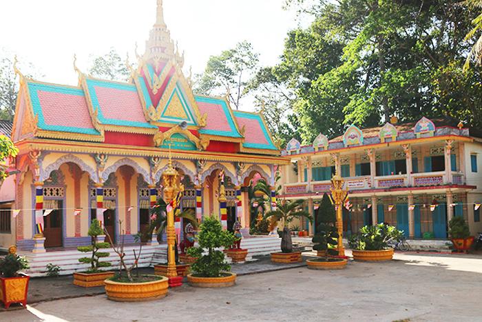 Check in chùa Pisesaram - Diện tích chùa khá rộng lớn