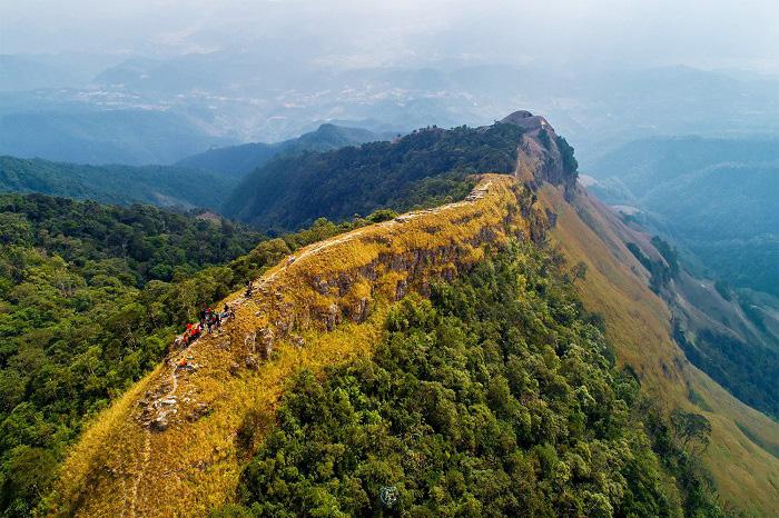 Sống lưng khủng long hùng vĩ của núi Phia Po