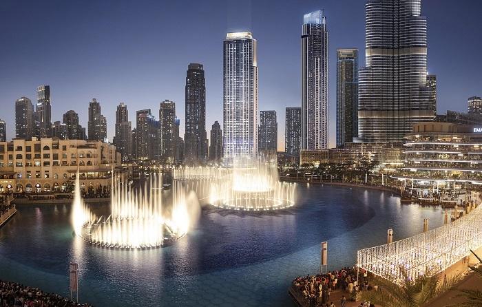 Xem màn trình diễn ánh sáng đẹp nhất Đài phun nước Dubai