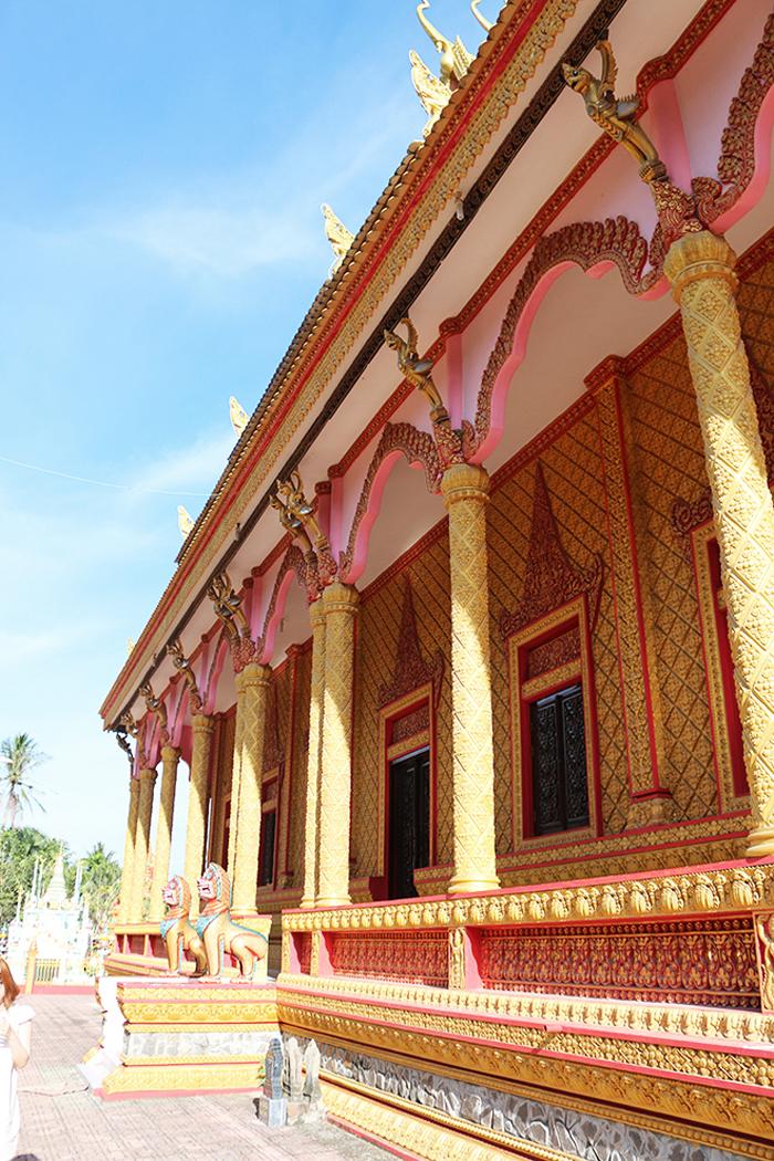 Check in chùa Pisesaram - Hành lang