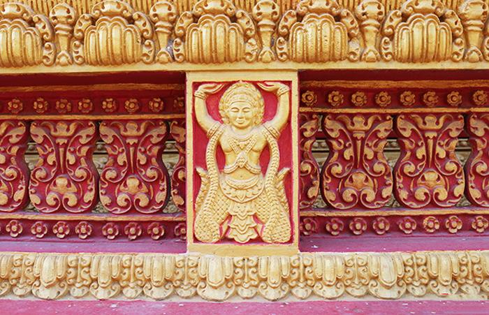 Check in chùa Pisesaram - Hoa văn, họa tiết